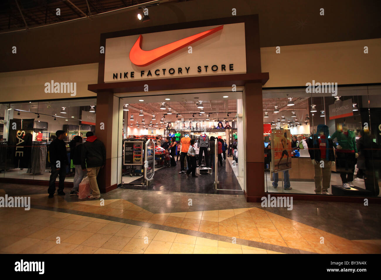 Nike factory outlet store in Vaughan Mills Mall in Toronto, 2010