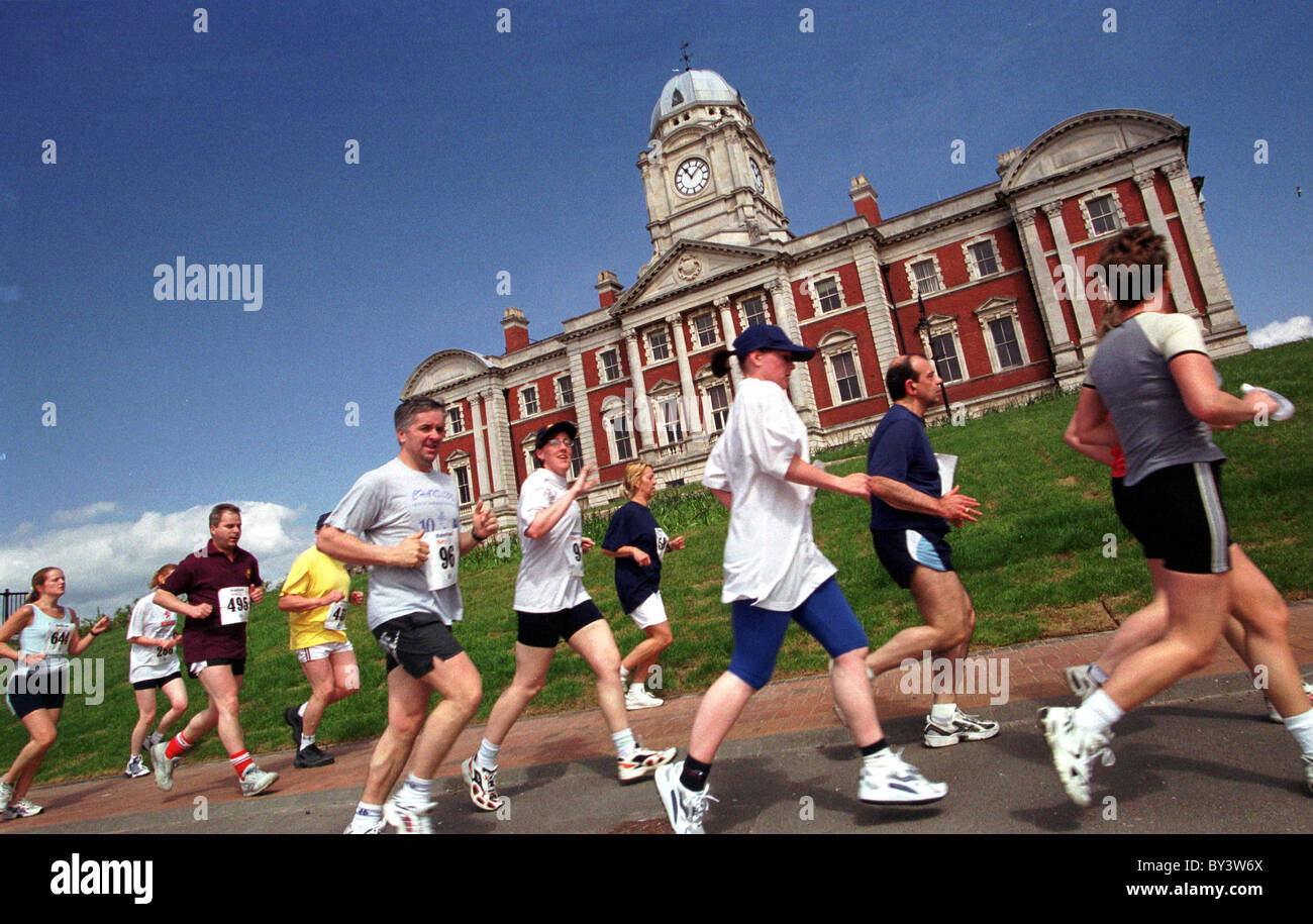 Marathon, Barry Waterfront. - Stock Image