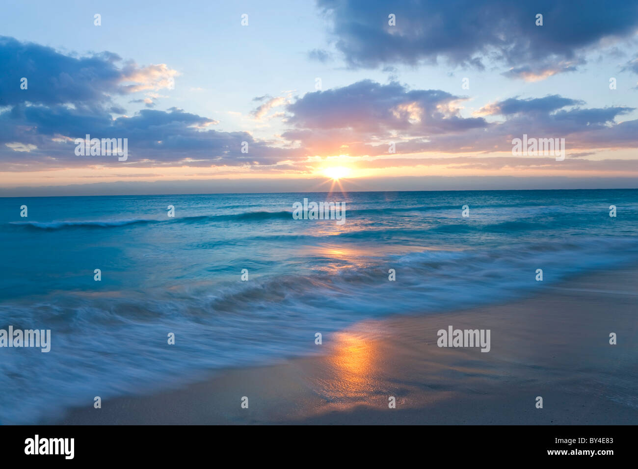 Sunrise, South Beach, Miami, Florida, USA - Stock Image