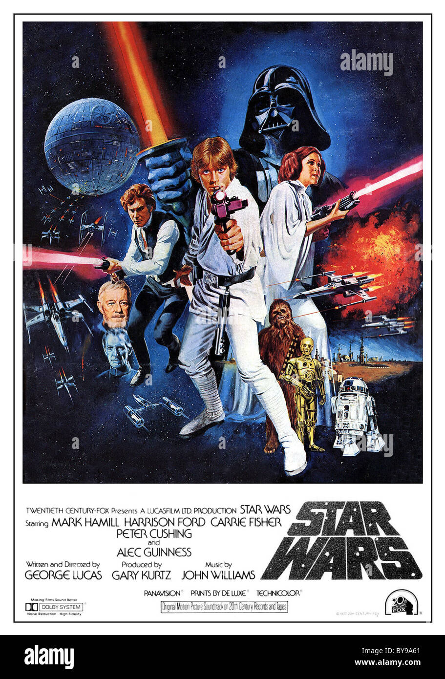 Star Wars  Year : 1977 - USA Director : George Lucas Affiche (USA) - Stock Image
