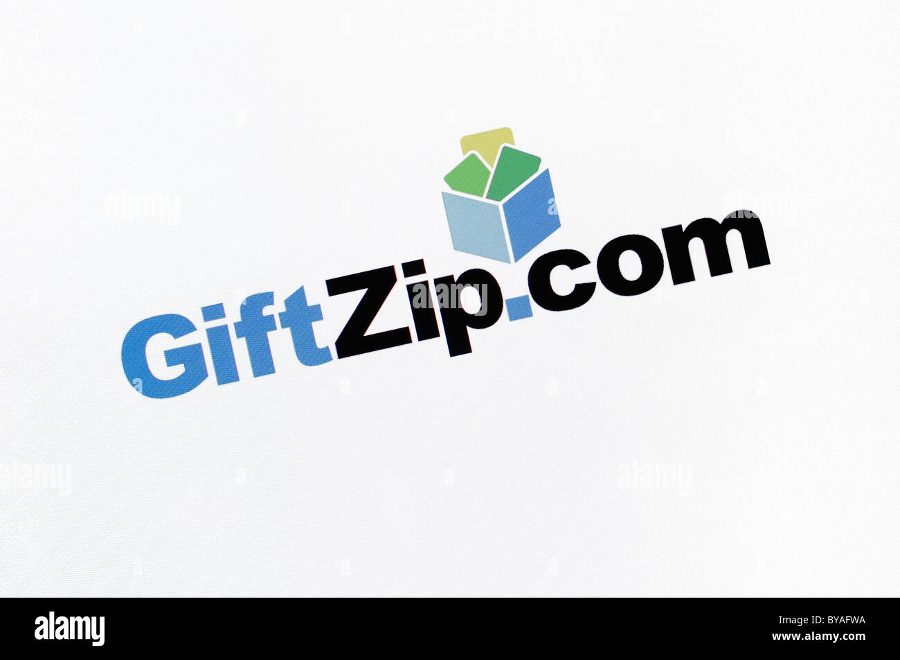 GiftZip.com Website Screenshot - Stock Image