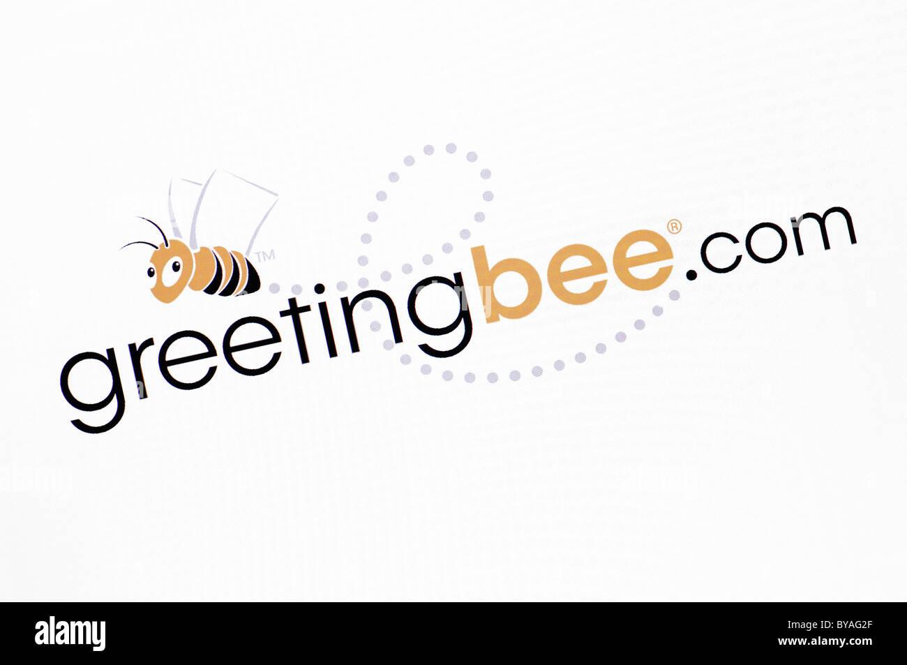 Greetingbee.com Website Screenshot - Stock Image