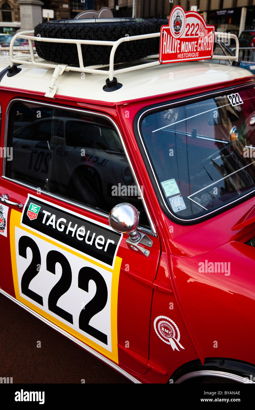 Austin Mini Cooper S, first reg'd 1969 enrolled in the 100th Monte Carlo Rally - Stock Image