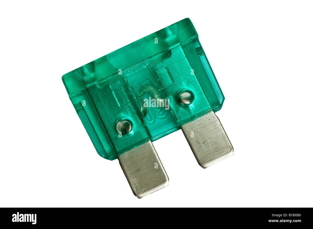 Green Spade Electric Fuse - Stock Image