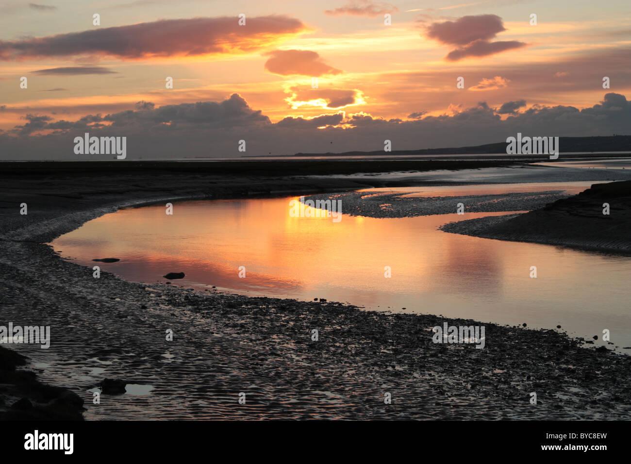 Estuary reflections 4 - Stock Image