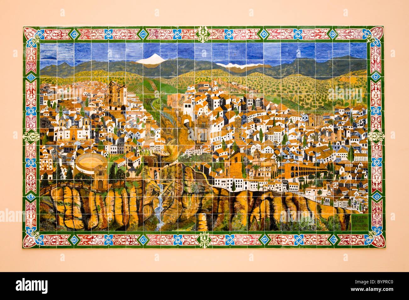 Spanish terracotta terra cotta tile tiles ceramics ceramic spanish terracotta terra cotta tile tiles ceramics ceramic map of ronda city on a wall in ronda spain dailygadgetfo Image collections
