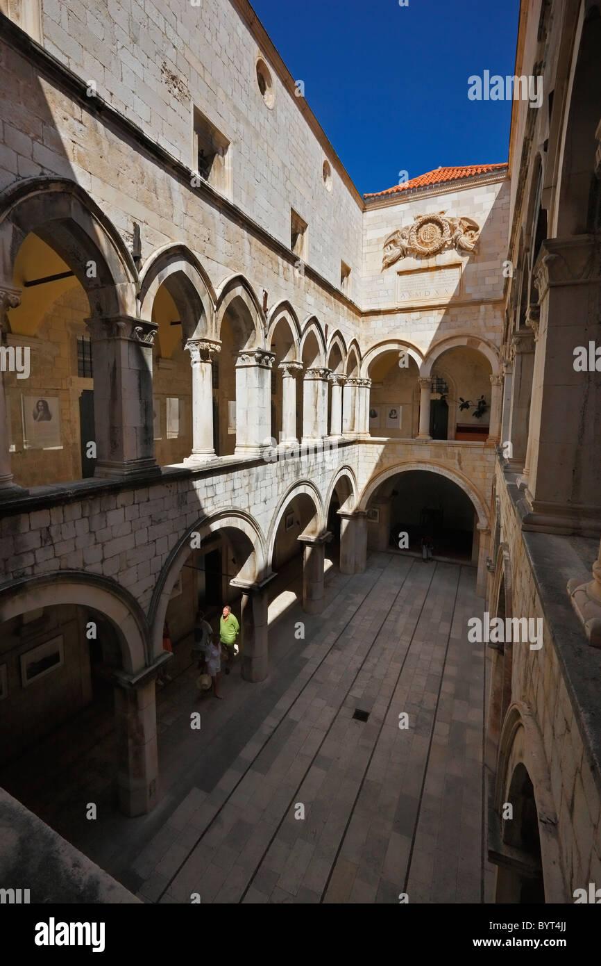 Sponza palace, Dubrovnik, UNESCO, heritage - Stock Image