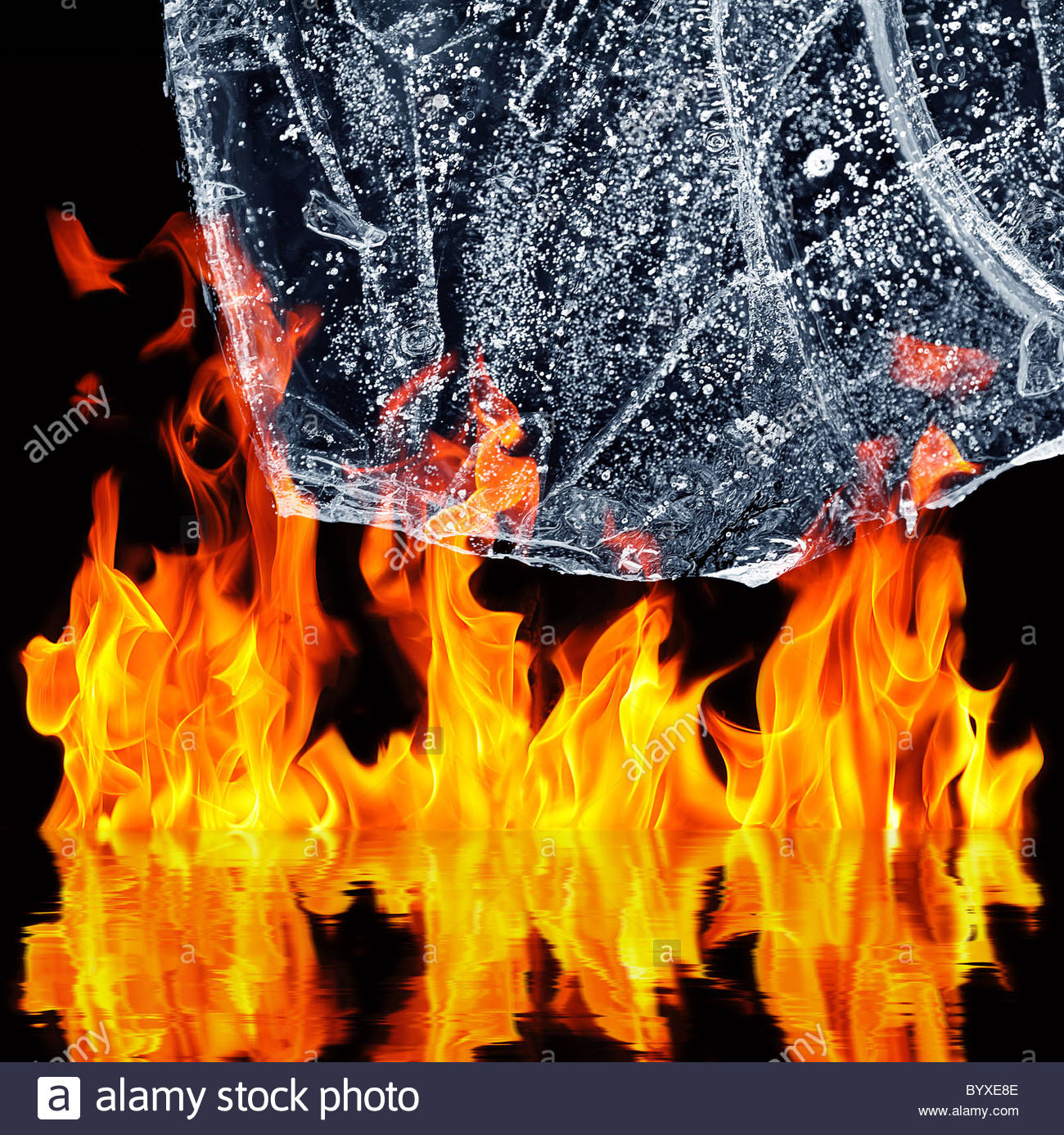 fire and Ice - Stock Image