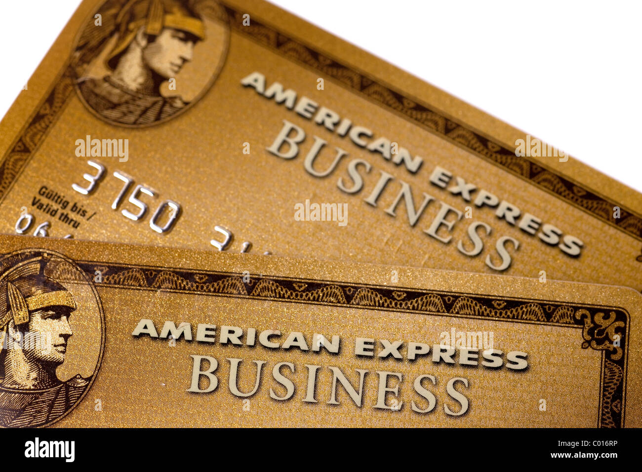 Credit cards, American Express, Amex, Gold Business Card Stock Photo ...