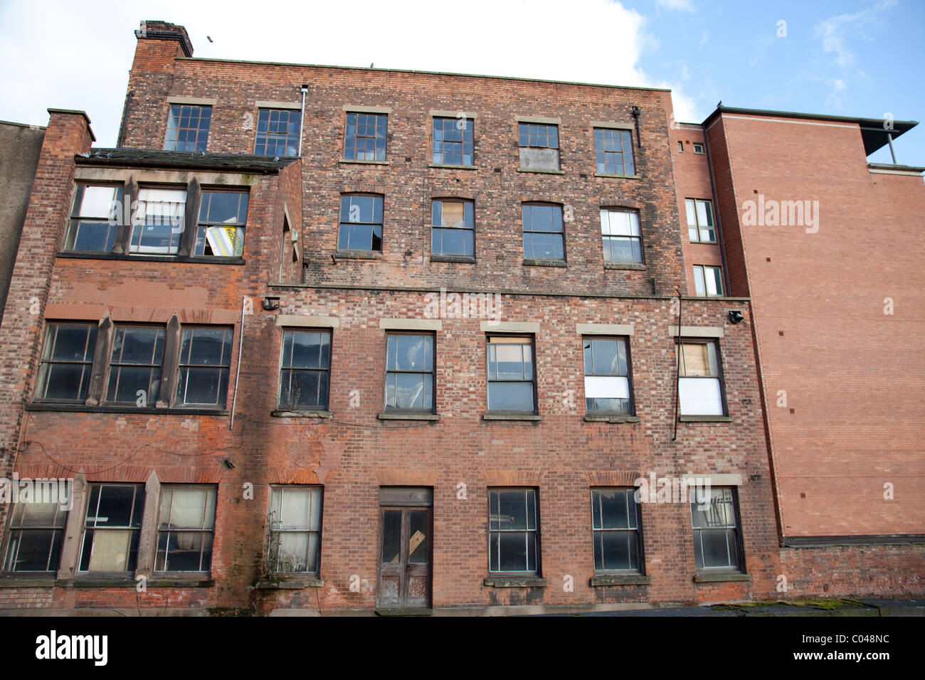 abandoned derelict office buildings in an urban area in nottingham