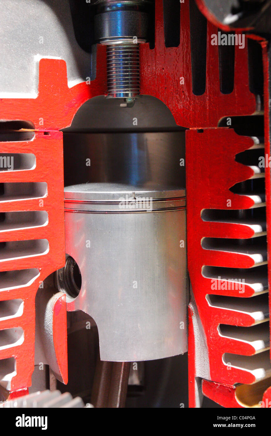 aircraft piston engine - Stock Image