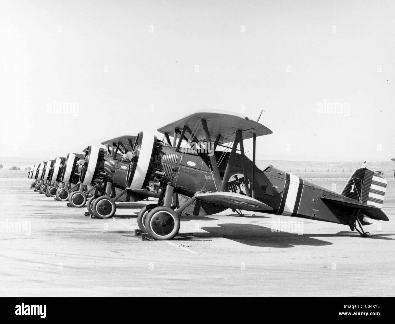 The Boeing P-12 or F4B was an American pursuit aircraft that was operated by the United States Army Air Corps. - Stock Image