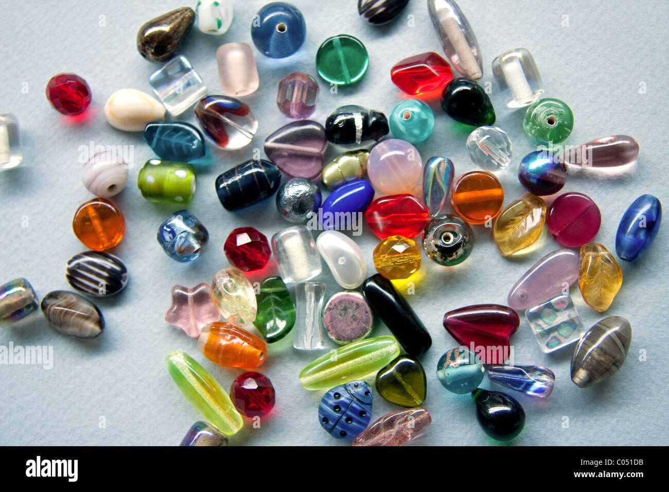 Colorful Glass Beads - Stock Image