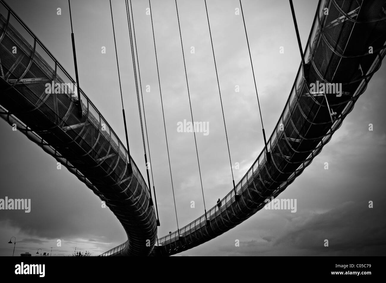 Cable bridge - Stock Image