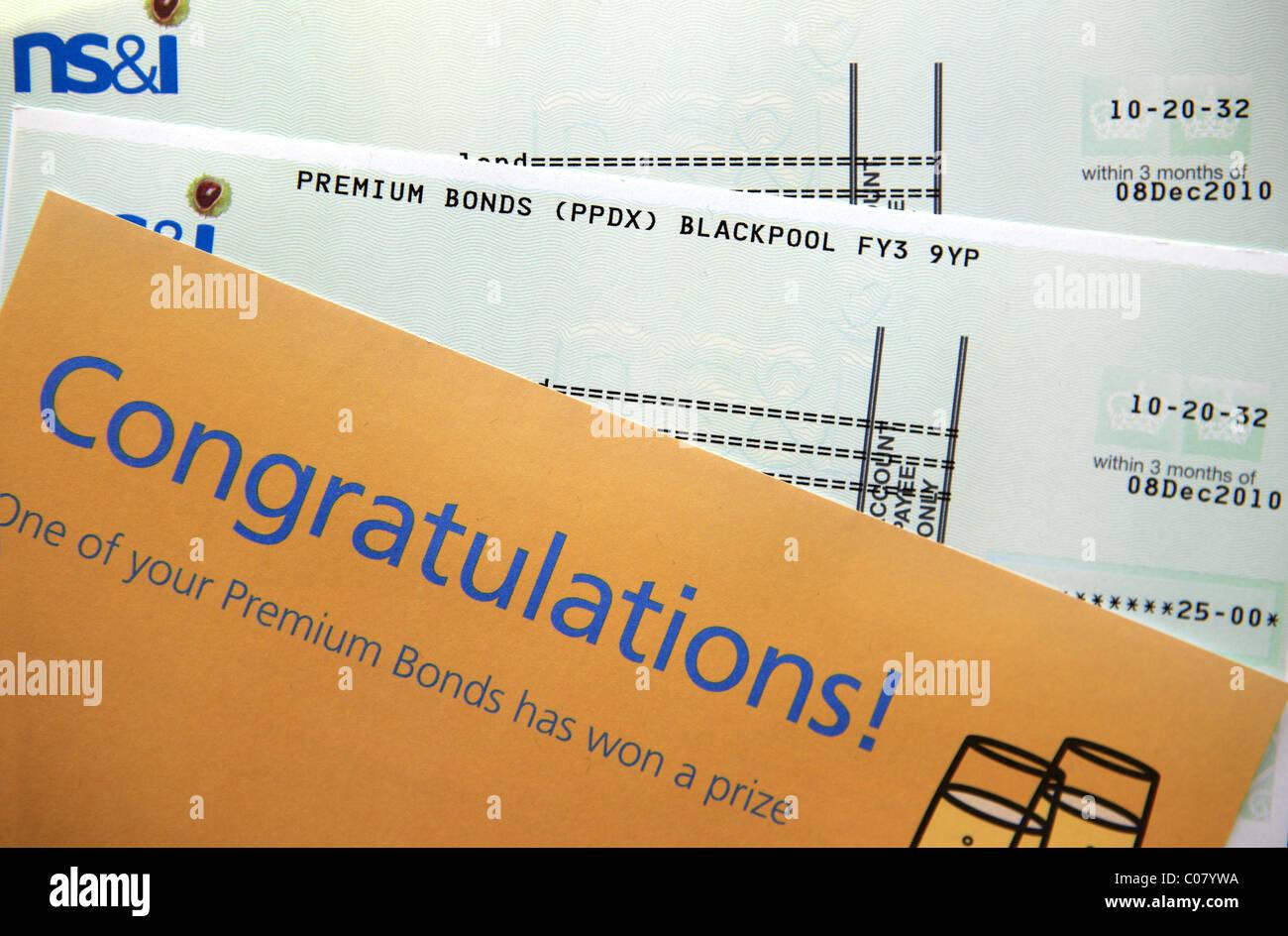 Premium bond wins Stock Photo