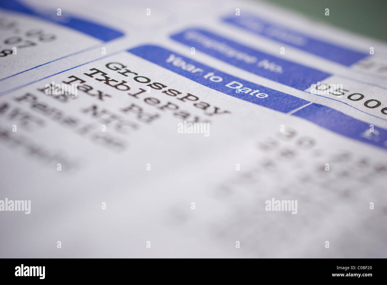 Wage slips, wages pay payslips wageslips Stock Photo