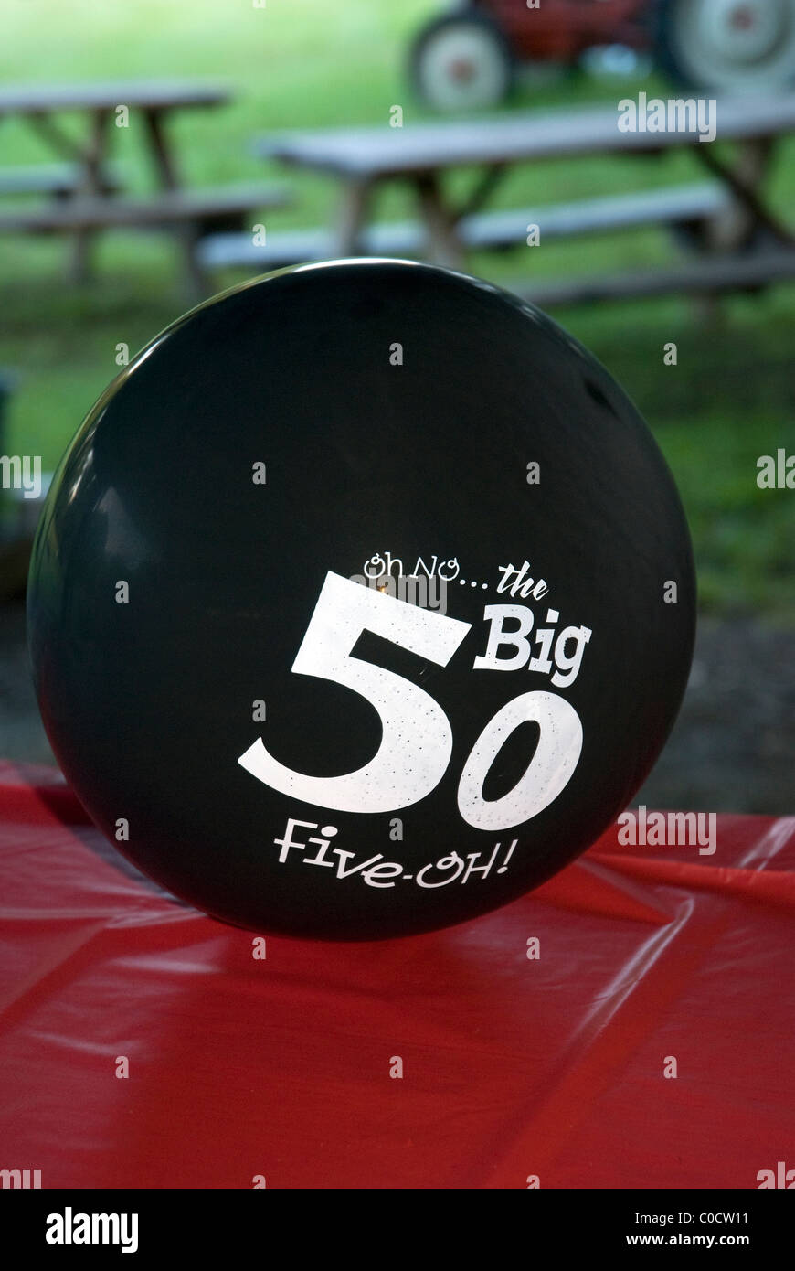 Balloon Decoration For 50th Birthday Celebration