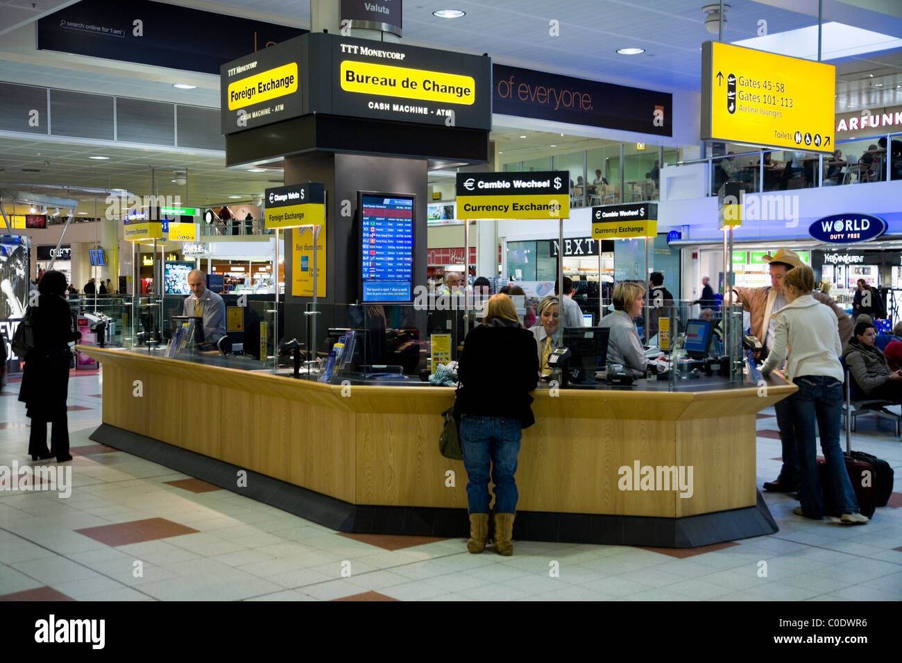 Bureau De Change At Gatwick Airport