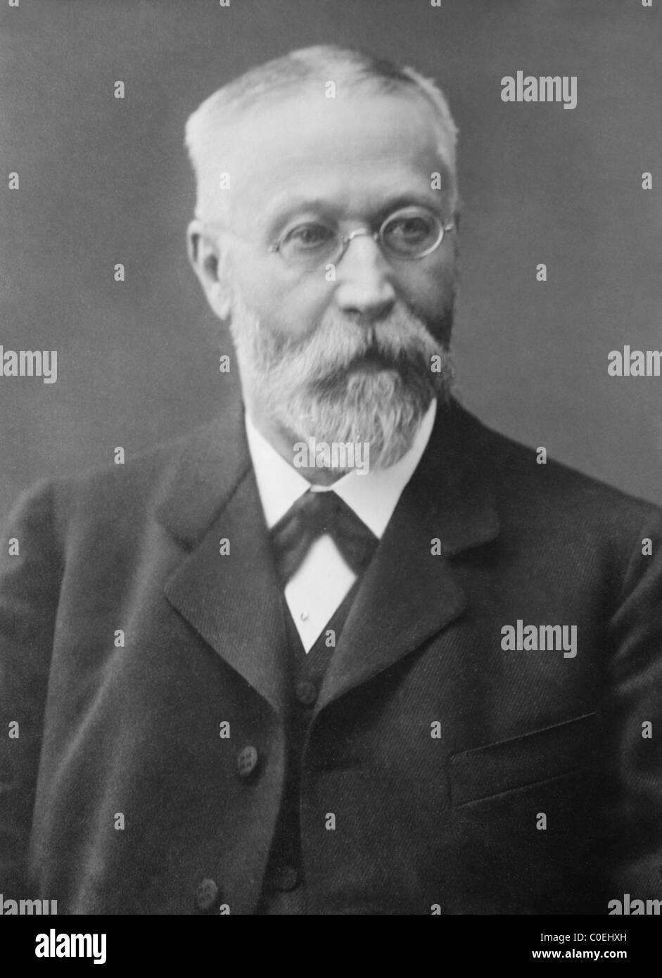 German inventor + physicist Karl Ferdinand Braun (1850 - 1918) - co-winner of 1909 Nobel Physics Prize with Guglielmo - Stock Image