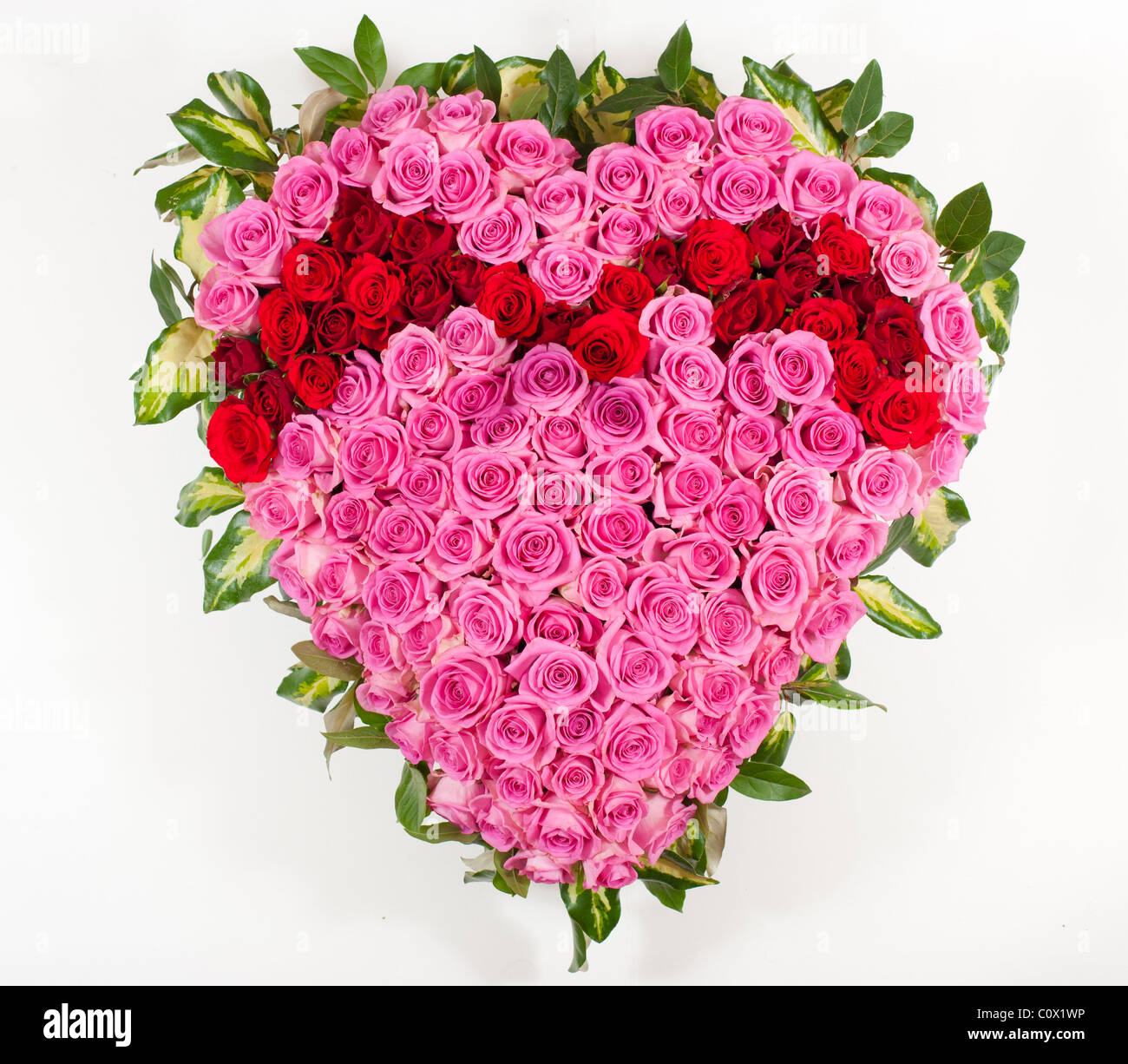 Heart shaped funeral flowers stock photo 34992994 alamy heart shaped funeral flowers izmirmasajfo