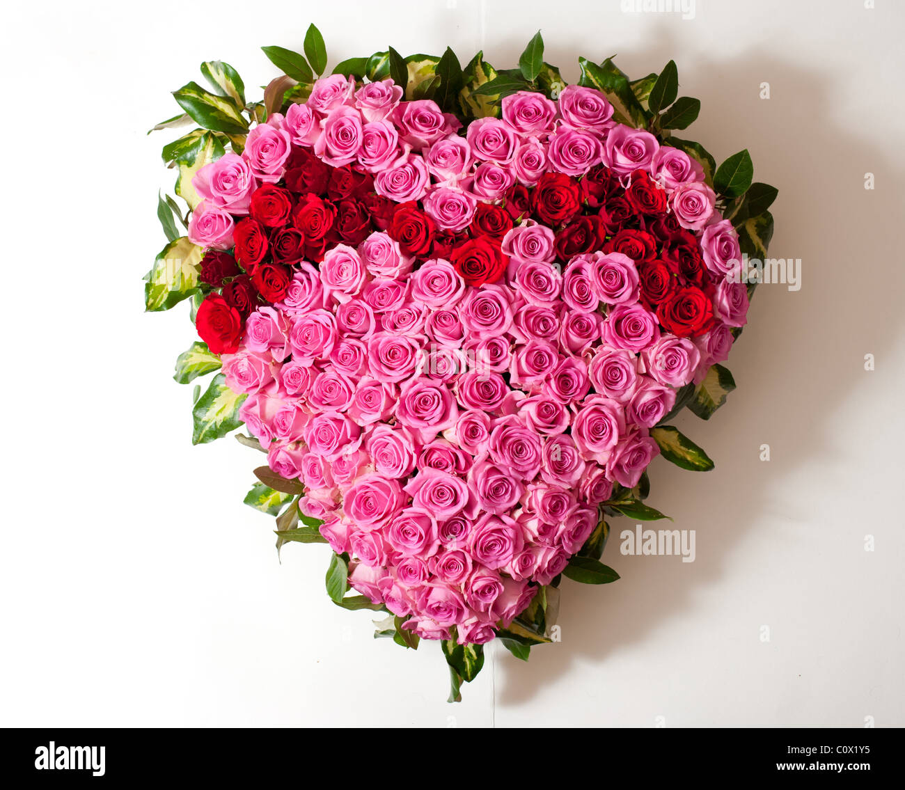 Heart shaped funeral flowers stock photo 34993033 alamy heart shaped funeral flowers izmirmasajfo