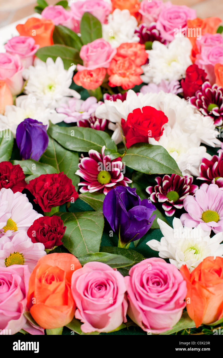 Heart shaped funeral flowers stock photo 34993163 alamy heart shaped funeral flowers izmirmasajfo