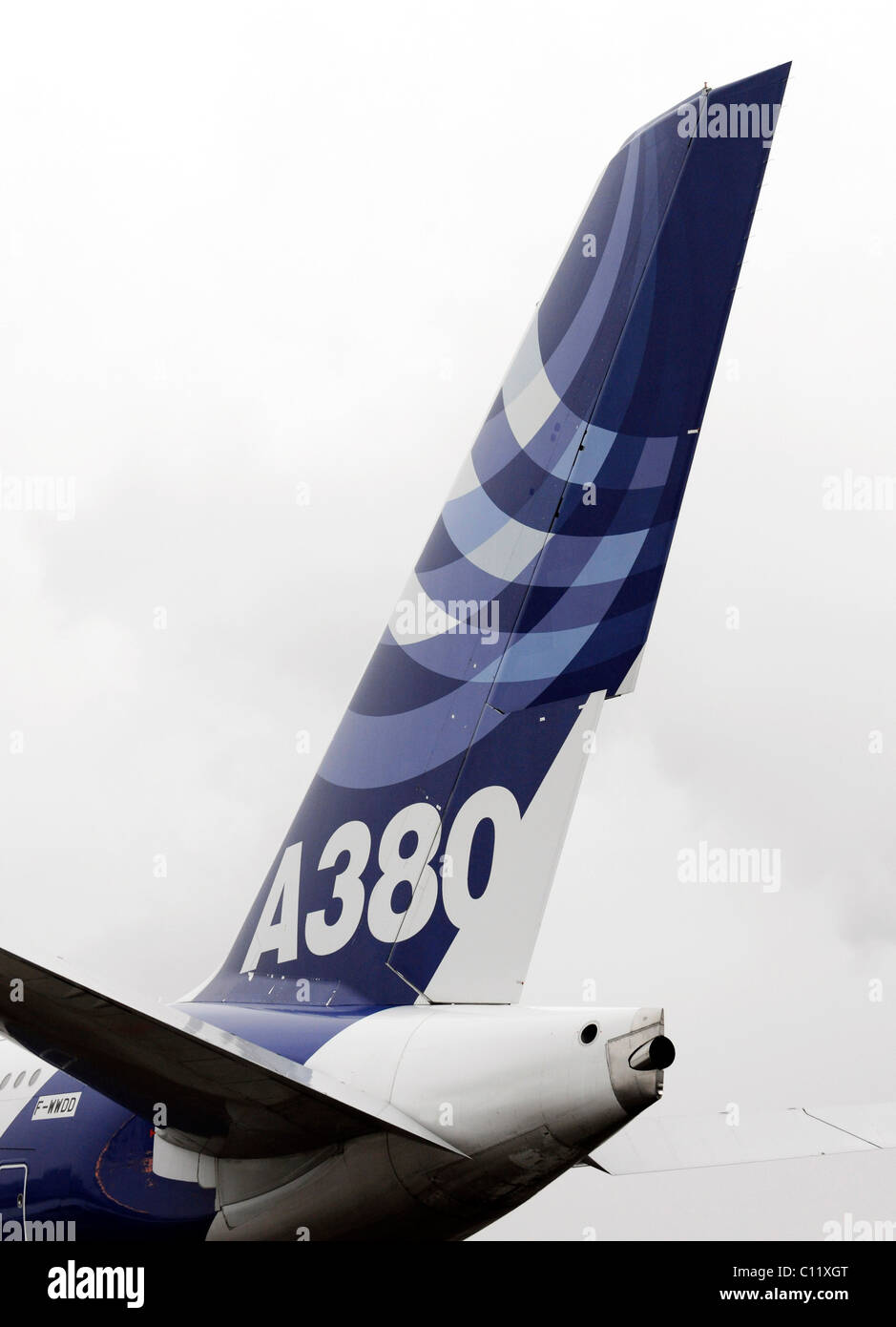 Rear section of the Airbus A 380 - Stock Image