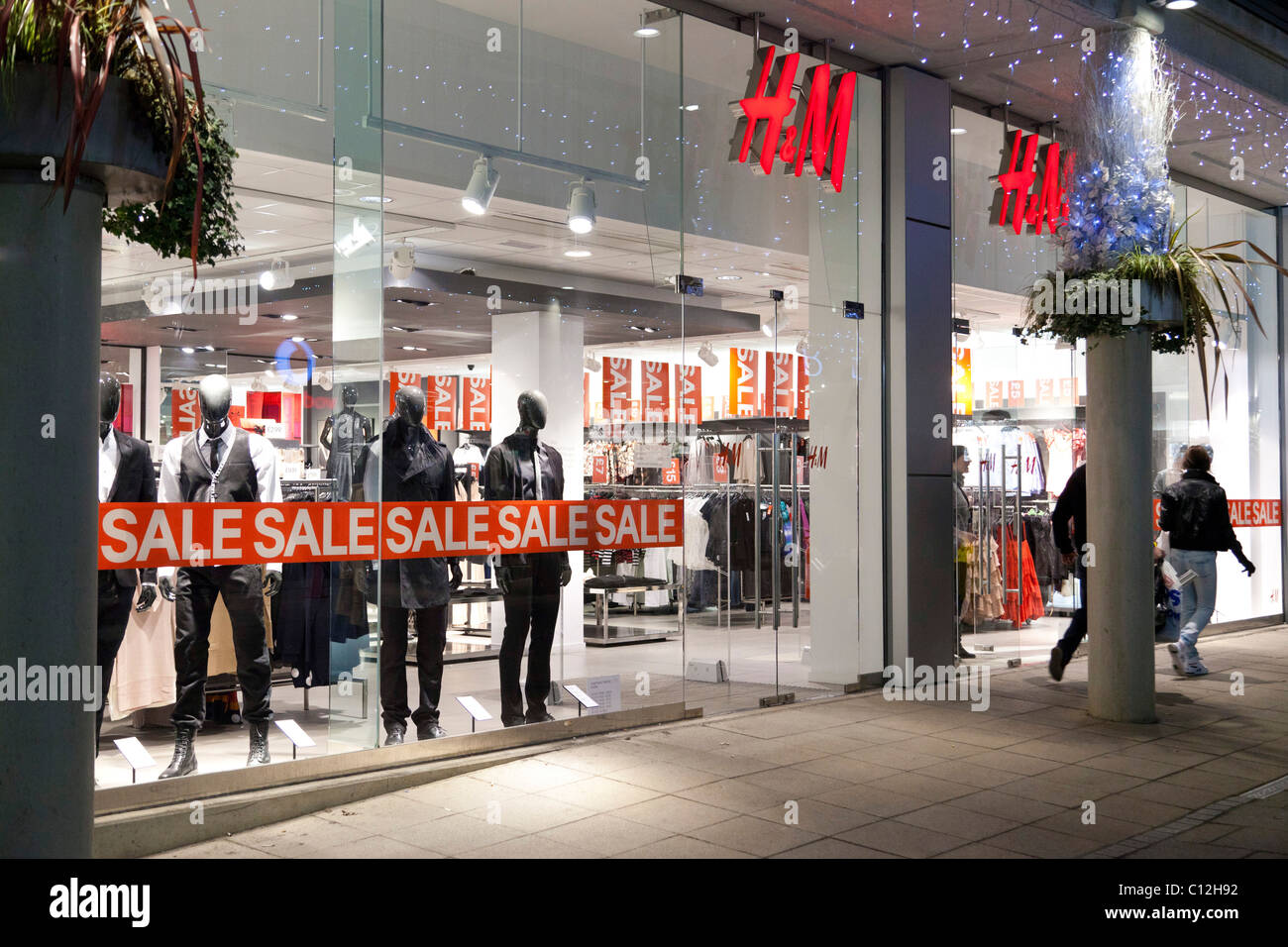 H&M sales at shop, UK Stock Photo