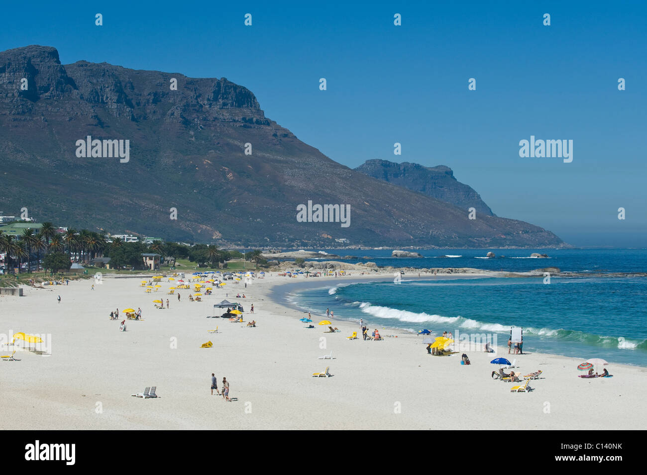 Beach at Camps Bay Cape Town South Africa - Stock Image