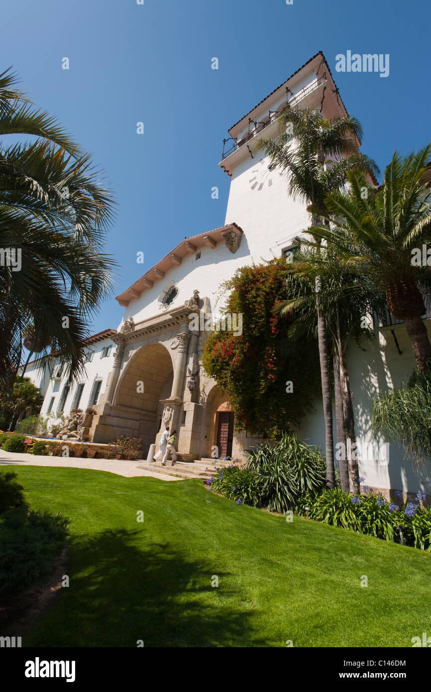 Santa Barbara County Courthouse in Santa Barbara, Calfornia. - Stock Image