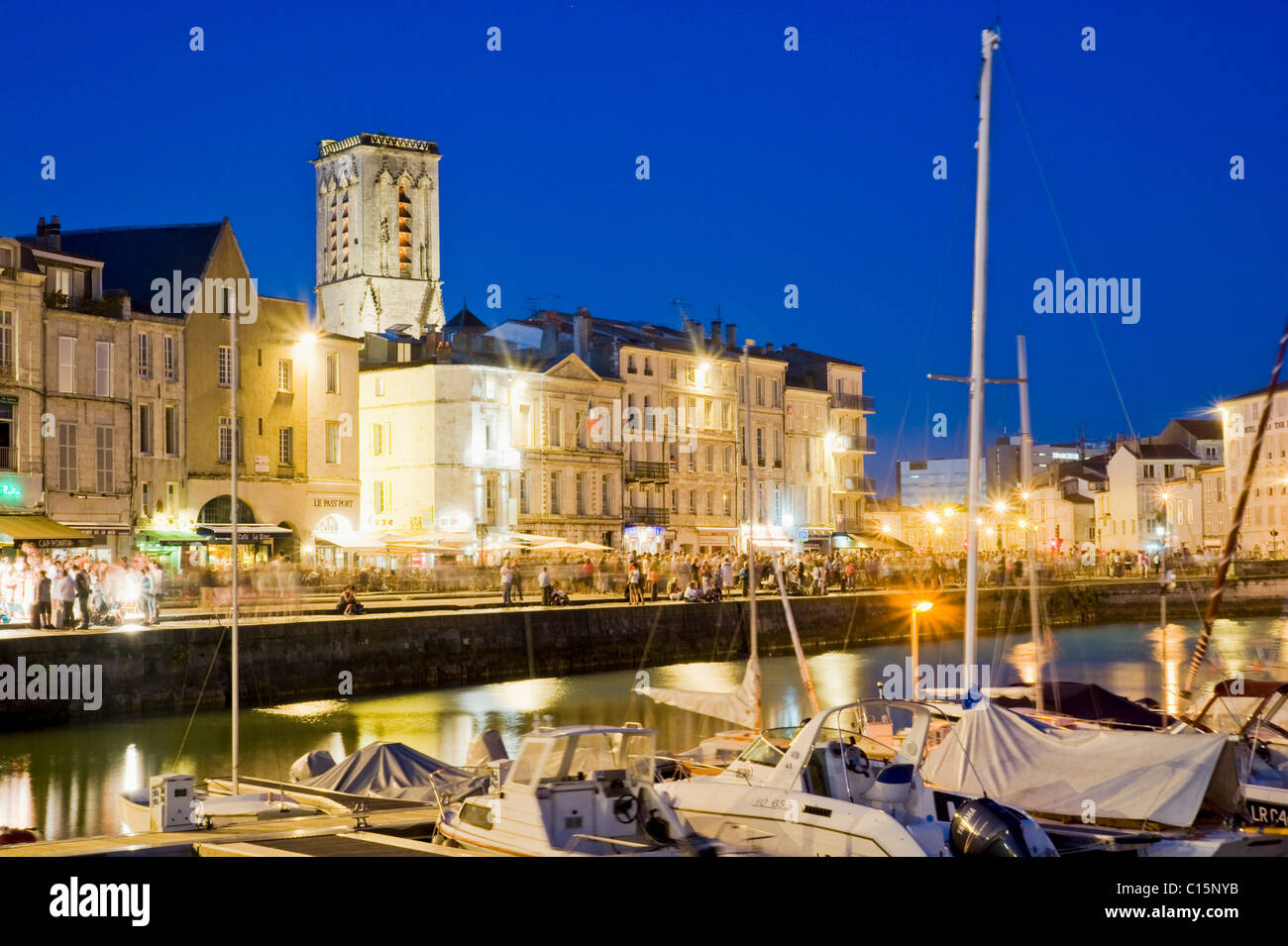 The old harbour, La Rochelle, Charente-Maritime, France - Stock Image