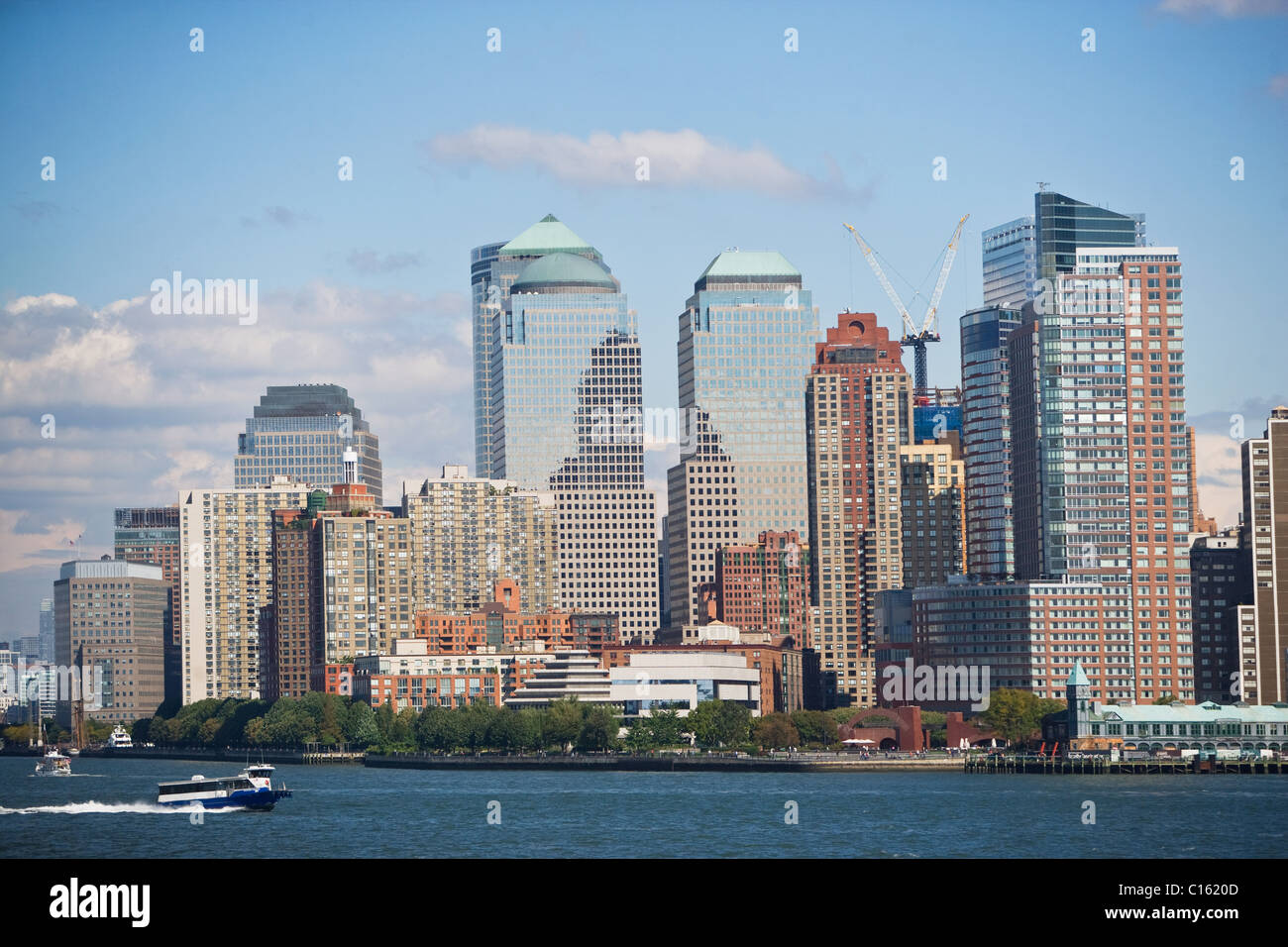 New York City skyline, New York State, USA - Stock Image