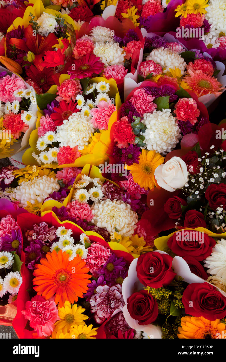 Flowers Los Angeles Flower District Downtown La California Usa