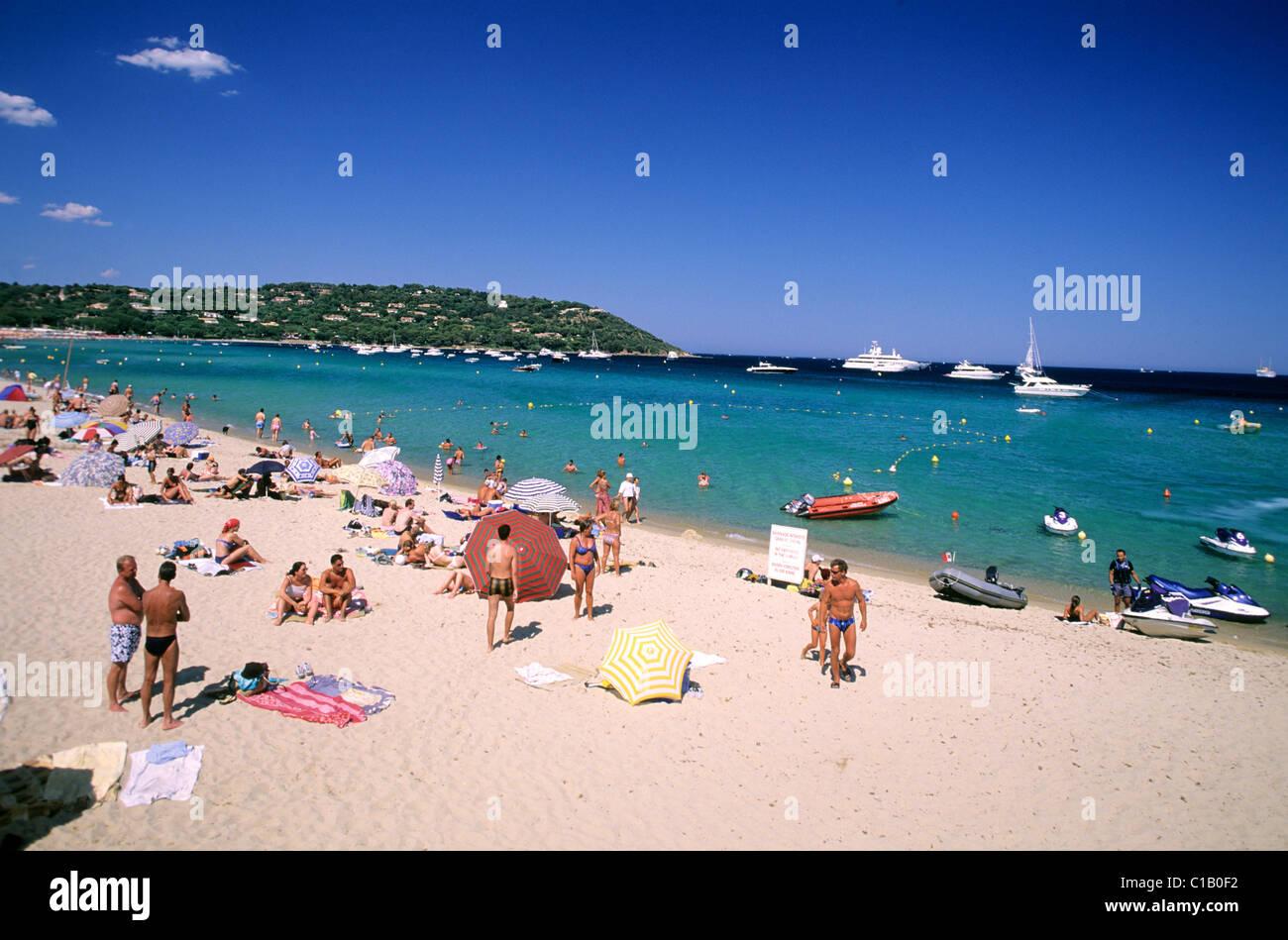 France Var Azure Coast Near Saint Tropez Pampelonne Beach Stock