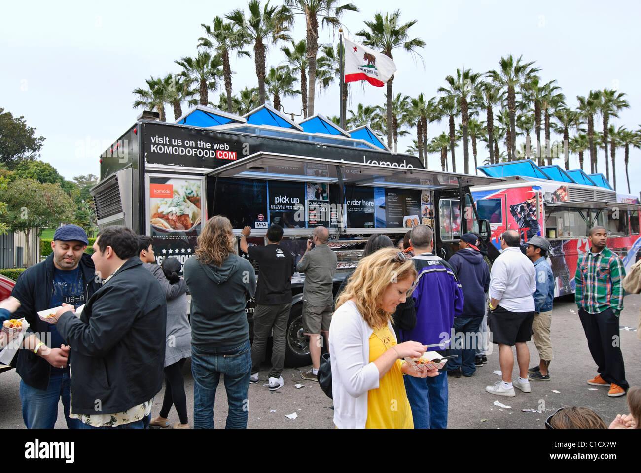 Food truck festival. - Stock Image
