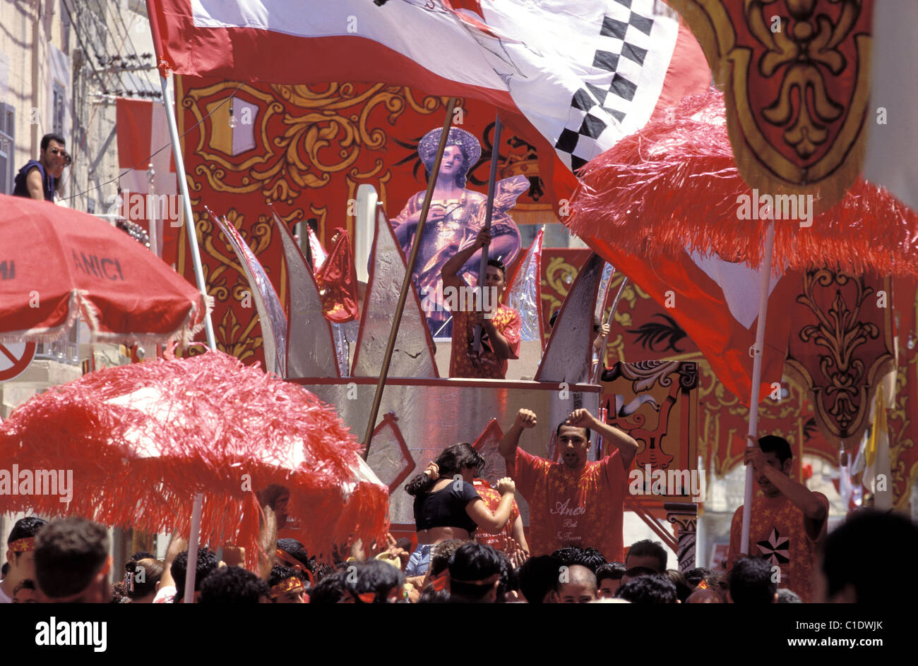 Malta, summer festas, Saint George banda in QormiStock Photo