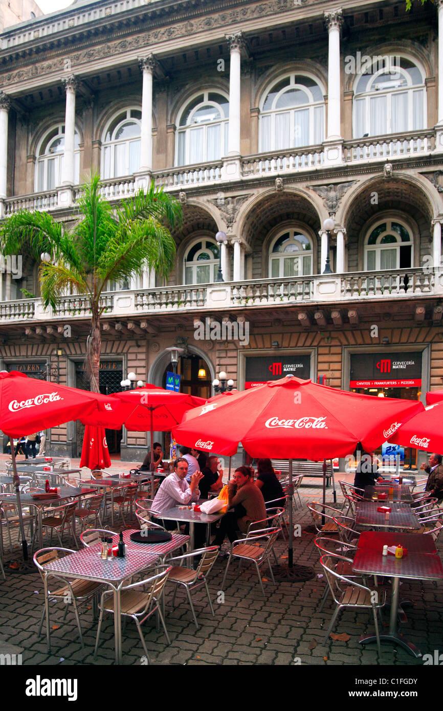 Bar at Sarandi pedestrian street. Montevideo, Uruguay. - Stock Image