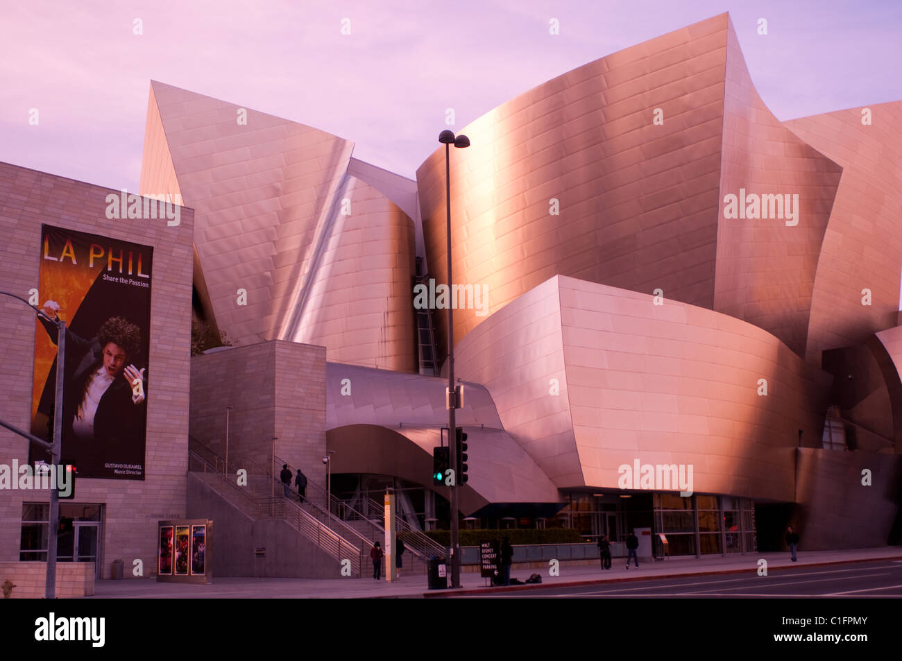 Architect Frank Gehry's Disney Concert Hall in downtown Los Angeles Southern California USA - Stock Image