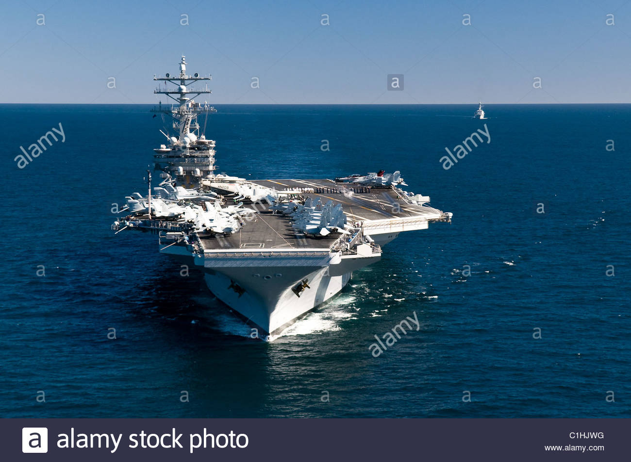 2011 March - US NAVY - aircraft carrier USS Ronald Reagan - Stock Image