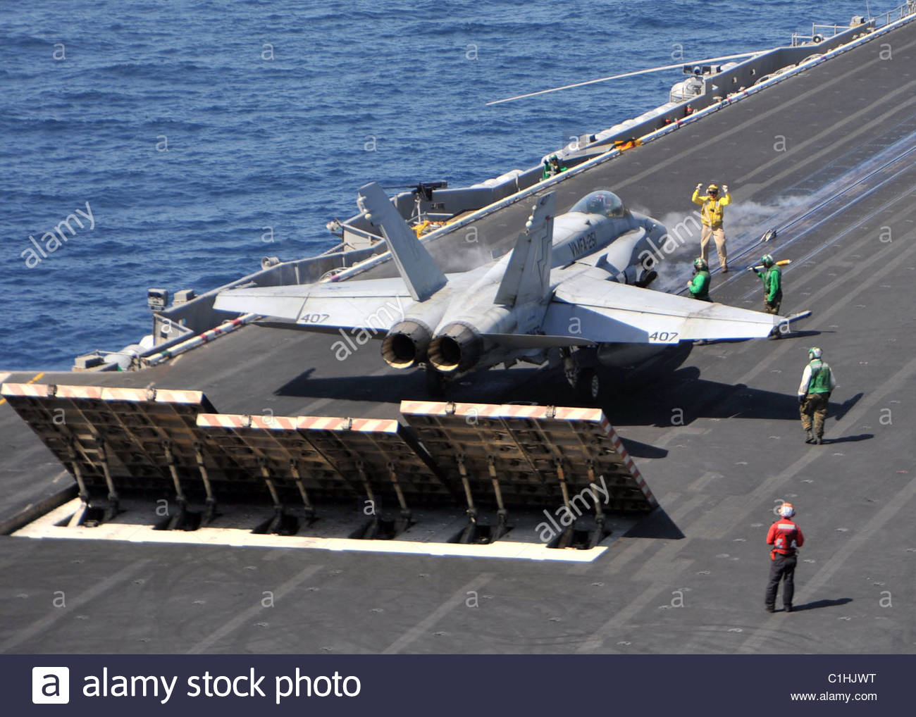 2011 March - US NAVY - Thunderbolts of Marine Fighter Attack Squadron (VMFA) - Stock Image