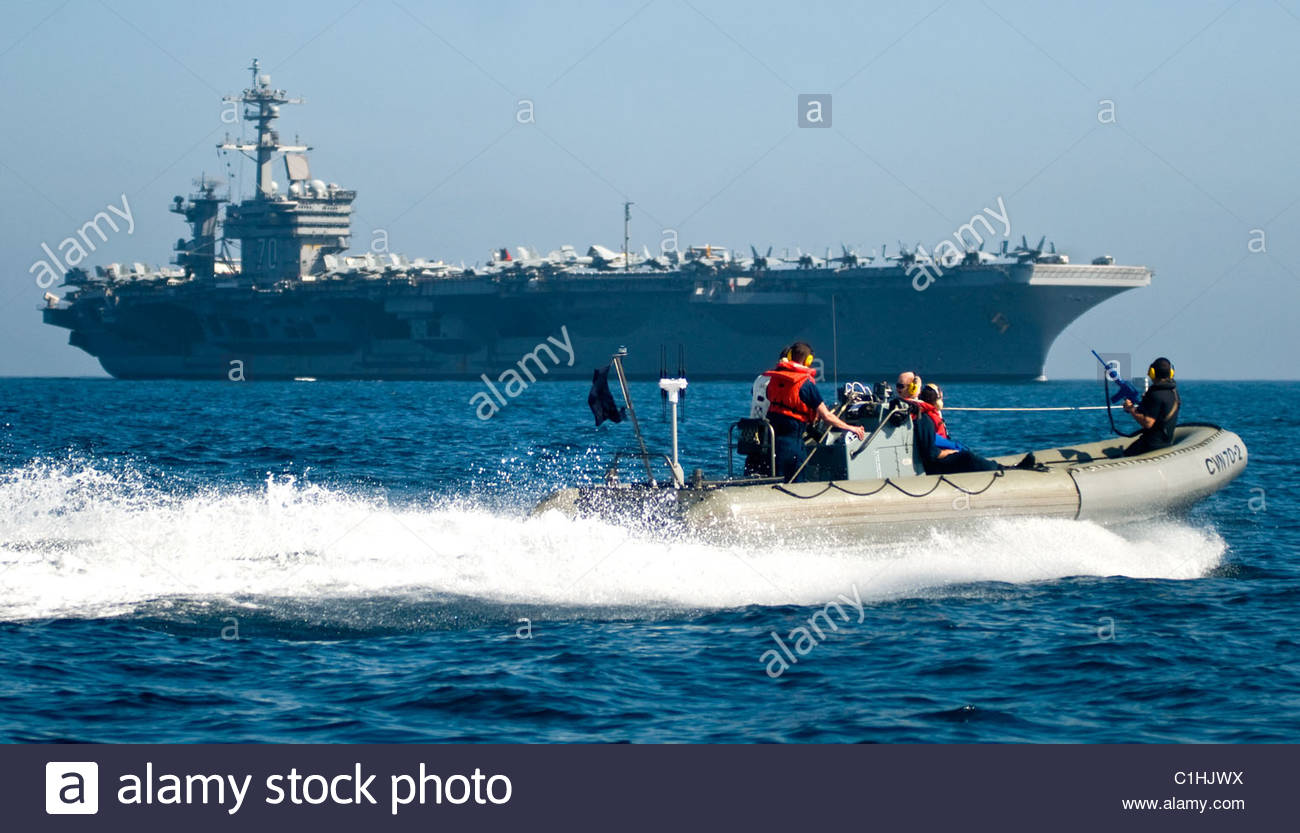 2011 March - US NAVY  - Nimitz-class aircraft carrier USS Carl Vinson (CVN 70) - Stock Image