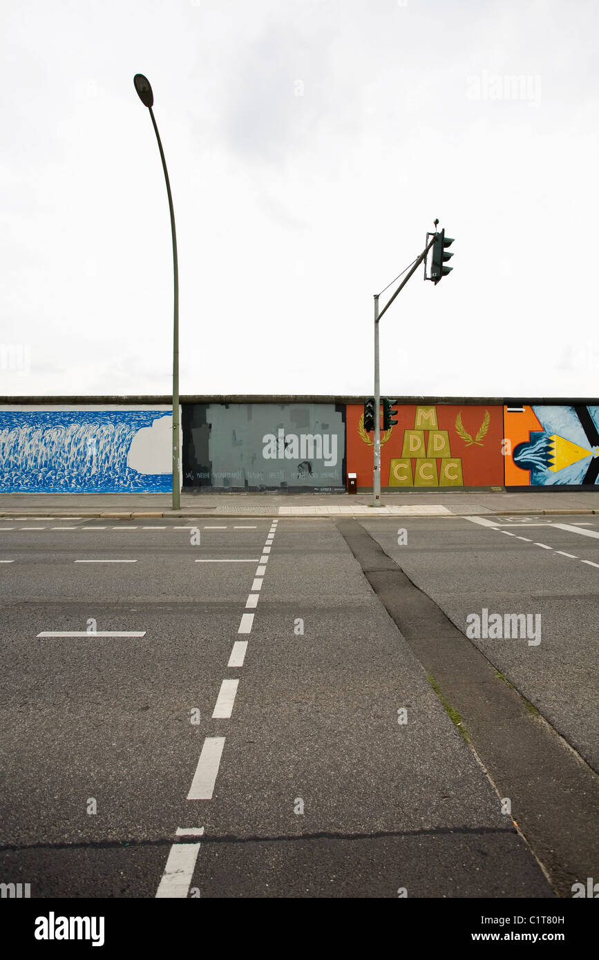 Germany, Berlin, Berlin Wall, East Side Gallery - Stock Image