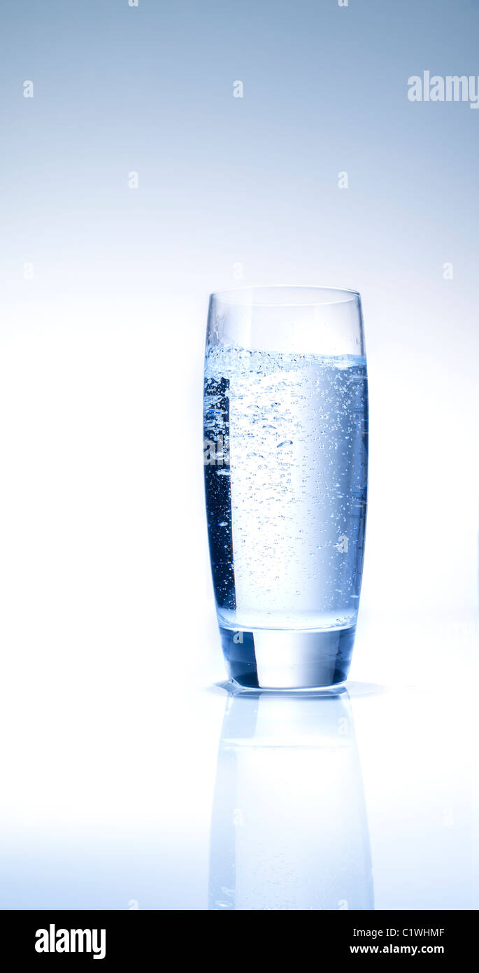 Water in a glass - Stock Image
