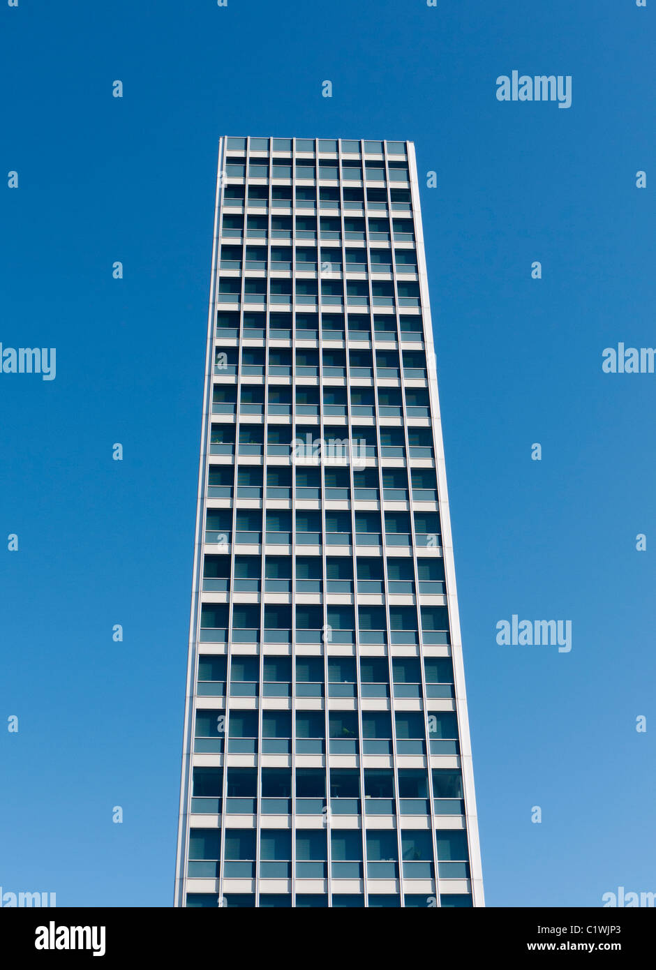 Modern high-rise office building in Dusseldorf Germany - Stock Image