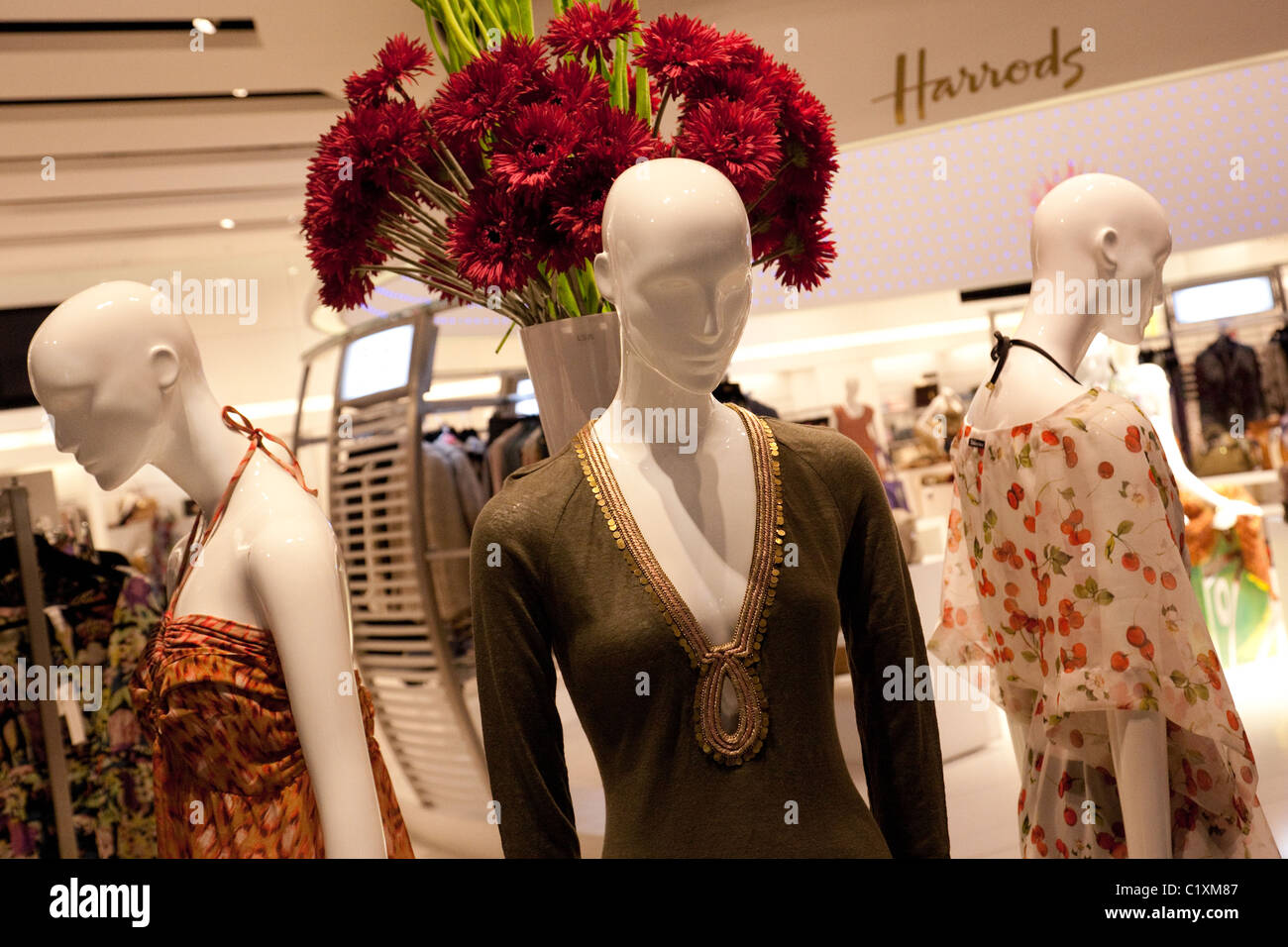 The harrods store at terminal 5, Heathrow airport, London UK - Stock Image