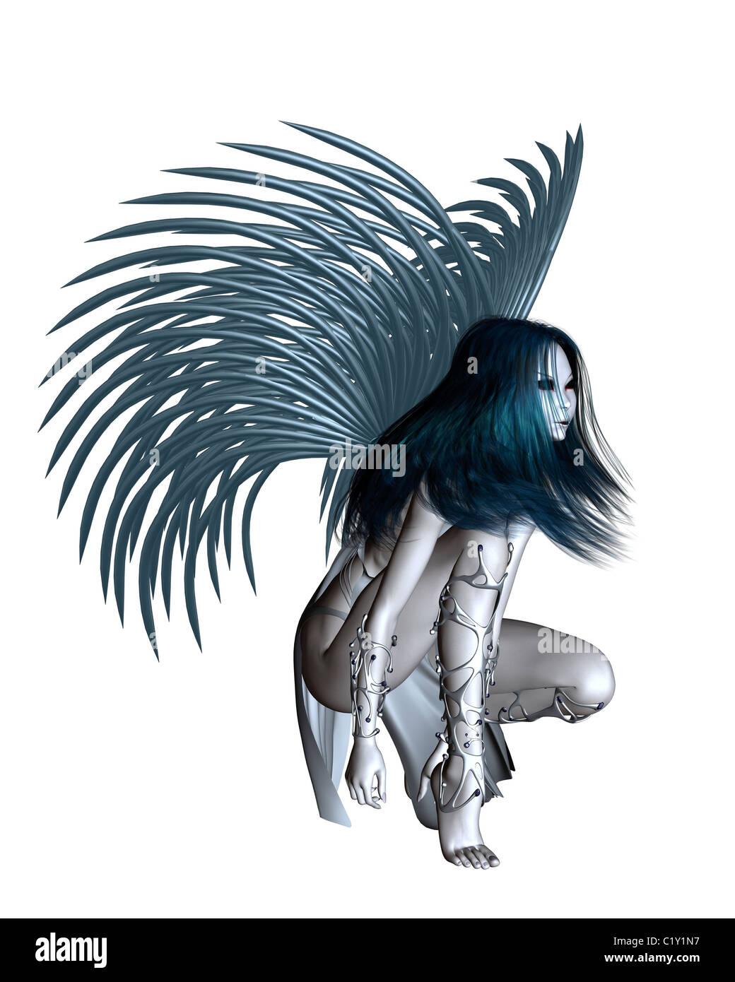 Alien Angel - 2 - Stock Image