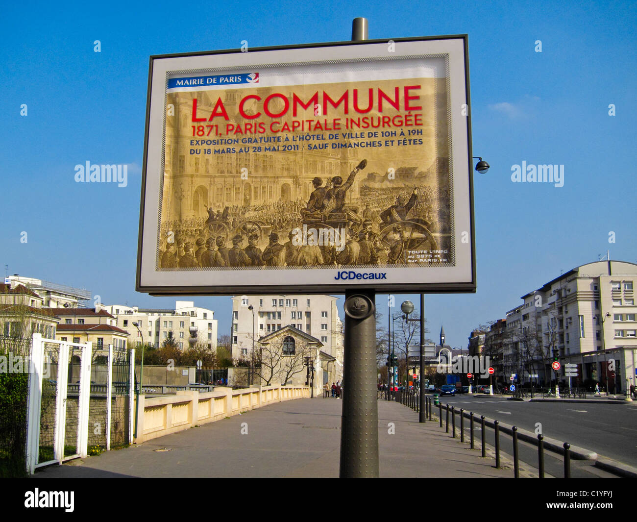 Paris, France, French Advertising, Outdoor Posters, Billboards, on Street - Stock Image