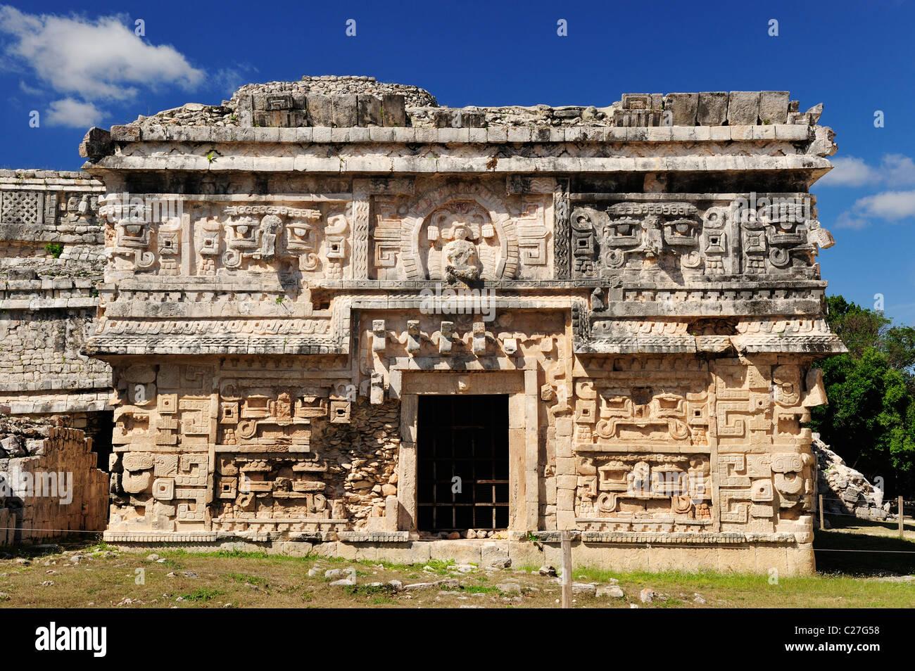 The Nunnery at Chichen Itza, Yucatan, Mexico - Stock Image