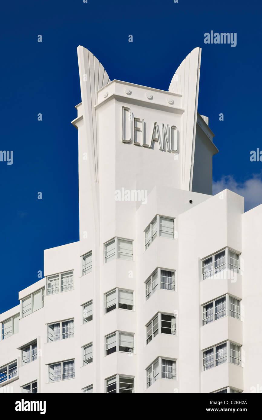 Delano Hotel, South Beach, Miami - Stock Image