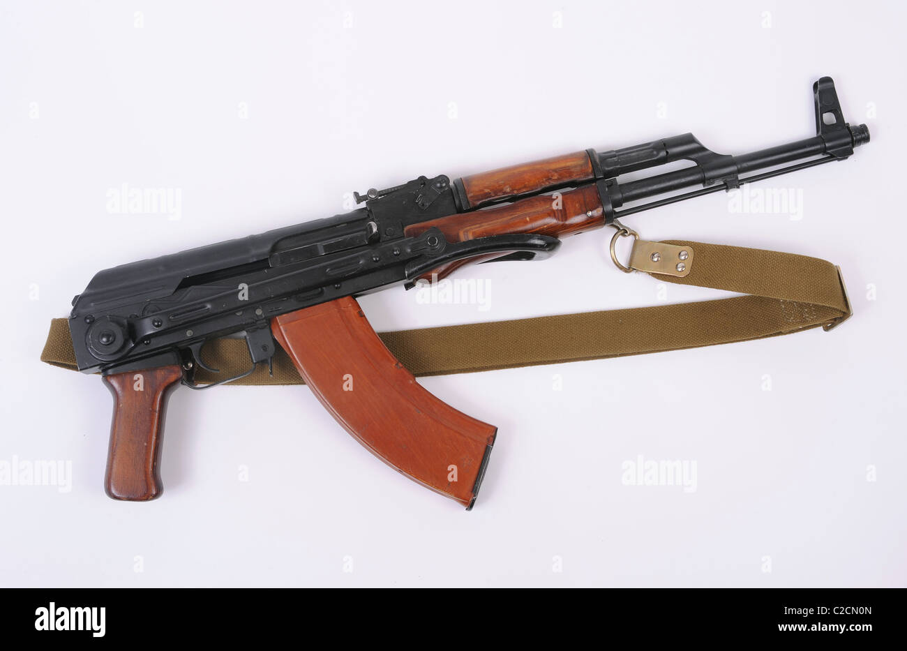 Russian AKMS rifle. Modernized folding stock version of the ubiquitous AK47  Kalashnikov assault rifle.